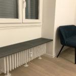 Seduta radiatore stile industriale