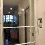 Porta vetrata bianca cucina