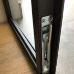 Porta vetrata in ferro antracite